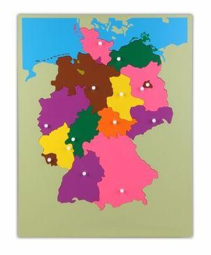 Holzpuzzlekarte Deutschland
