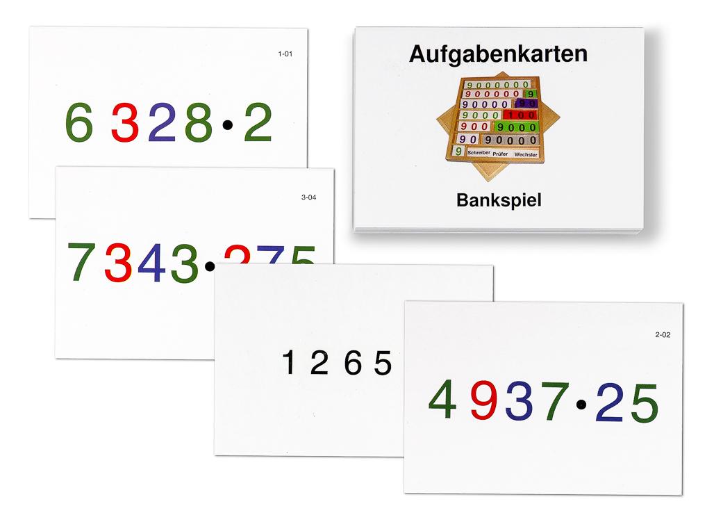 Aufgabenkarten zum Bankspiel