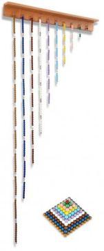 Perlenketten und Quadrate mit Aufhängung