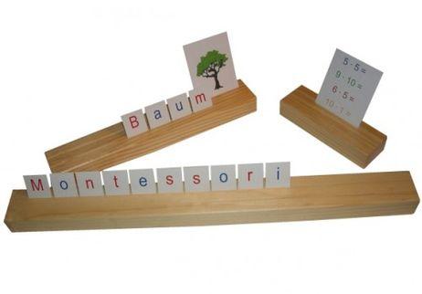 Setzleiste aus Naturholz - 15 cm