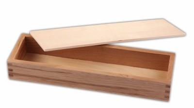 Holzkiste mit Deckel 28 x 7 x 4 cm