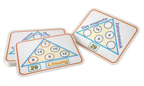 Zahlendreiecke zum Zahlenraum 100