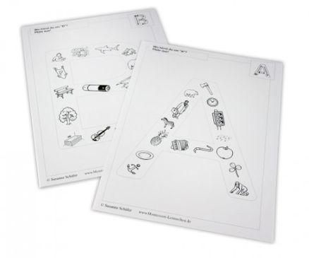 buchstaben des abc mit bildern arbeits und lehrmittel deutsch. Black Bedroom Furniture Sets. Home Design Ideas