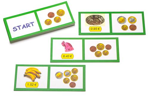 Lerndomino Euro und Cent