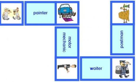 1 Lerndomino Englisch - Berufe / Vocations