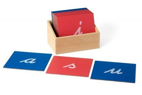 Sandpapierbuchstaben Schulausgangsschrift - Kleinbuchstaben