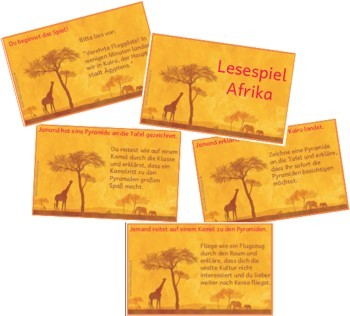 Lesespiel Afrika