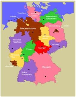 Bundesländer Zusatzmaterial Deutschland Puzzlekarte