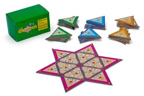 montessori-material.de Vier Lernsterne - Kleines Einmaleinsder 2, 3, 4 und 5
