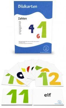 12 Bildkarten - Zahlen
