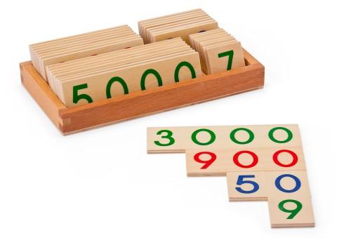 Zahlentafeln aus Holz