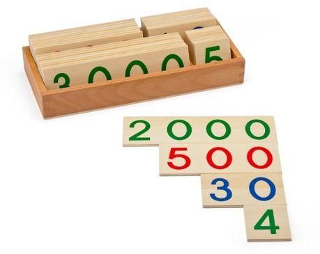 Große Stellenwerttafeln aus Holz