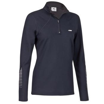 Rono Damen Dry II Zipneck Laufshirt - schwarz
