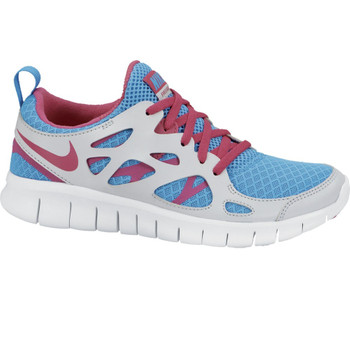 Nike free Run 2 Junior grau-blau-pink
