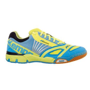 Kempa Handball Schuhe Hurricane blau-gelb