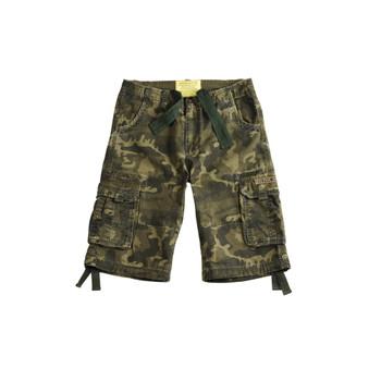Alpha Indsutries Herren Jet Short grün camouflage