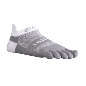 injinji Zehensocken Run 2.0 Midweight no-show white gray