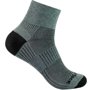 Wrightsock Coolmesh II quarter grau