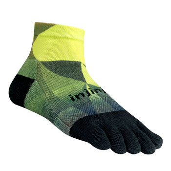 injinji Zehensocken  Run 2.0 Midweight mini crew geo lime black