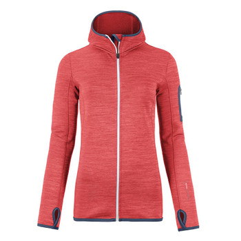 Ortovox Damen Fleece Melange Hoody W orange