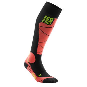 CEP Ski Merino Socks Women schwarz rot