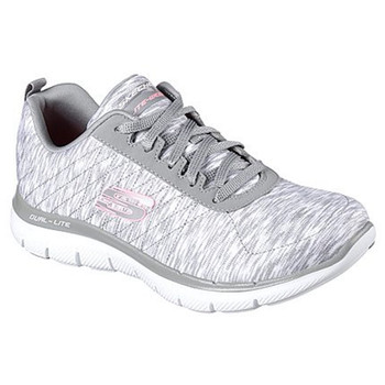 Skechers Damen Flex Appeal 2.0 Reflection grau weiß
