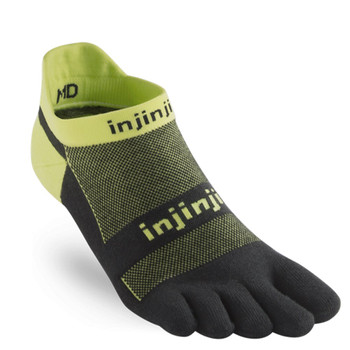 injinji Zehensocken  Run Lightweight no-show grün
