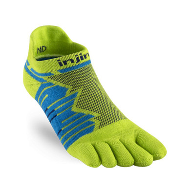 injinji Zehensocken Ultra Run no-show lime