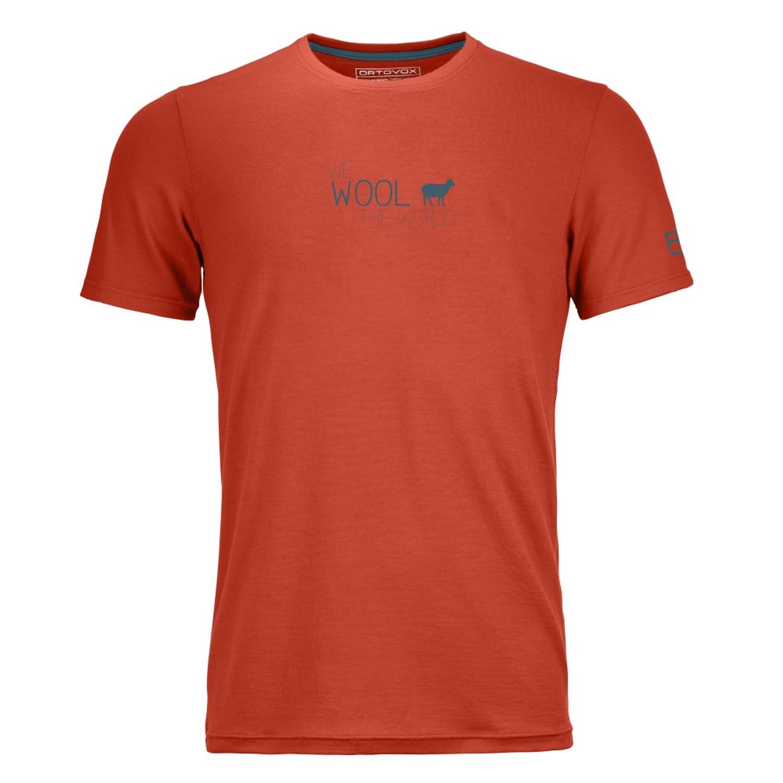 ortovox herren cool world t shirt m crazy orange. Black Bedroom Furniture Sets. Home Design Ideas