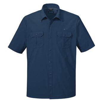 Schöffel Herren Hemd Ammergau UV blau