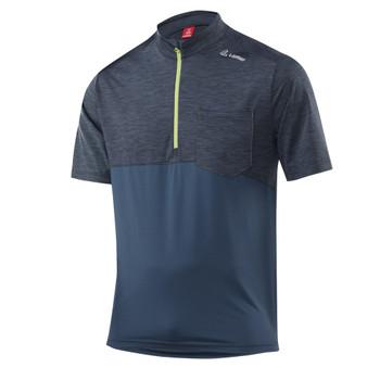 Löffler Herren Bike Shirt Rainbow blau – Bild 1