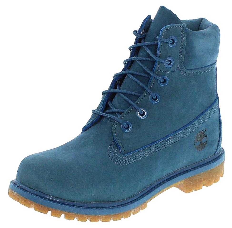 Timberland 6 Premium Boot Blue Nubuck - Blau