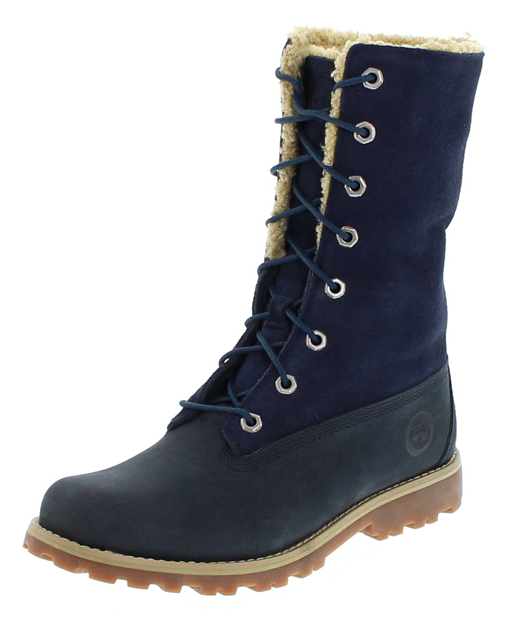 Timberland C1690A KIDS AUTHENTICS 6IN SHEARLING BOOT Blau Kinder Winterstiefel