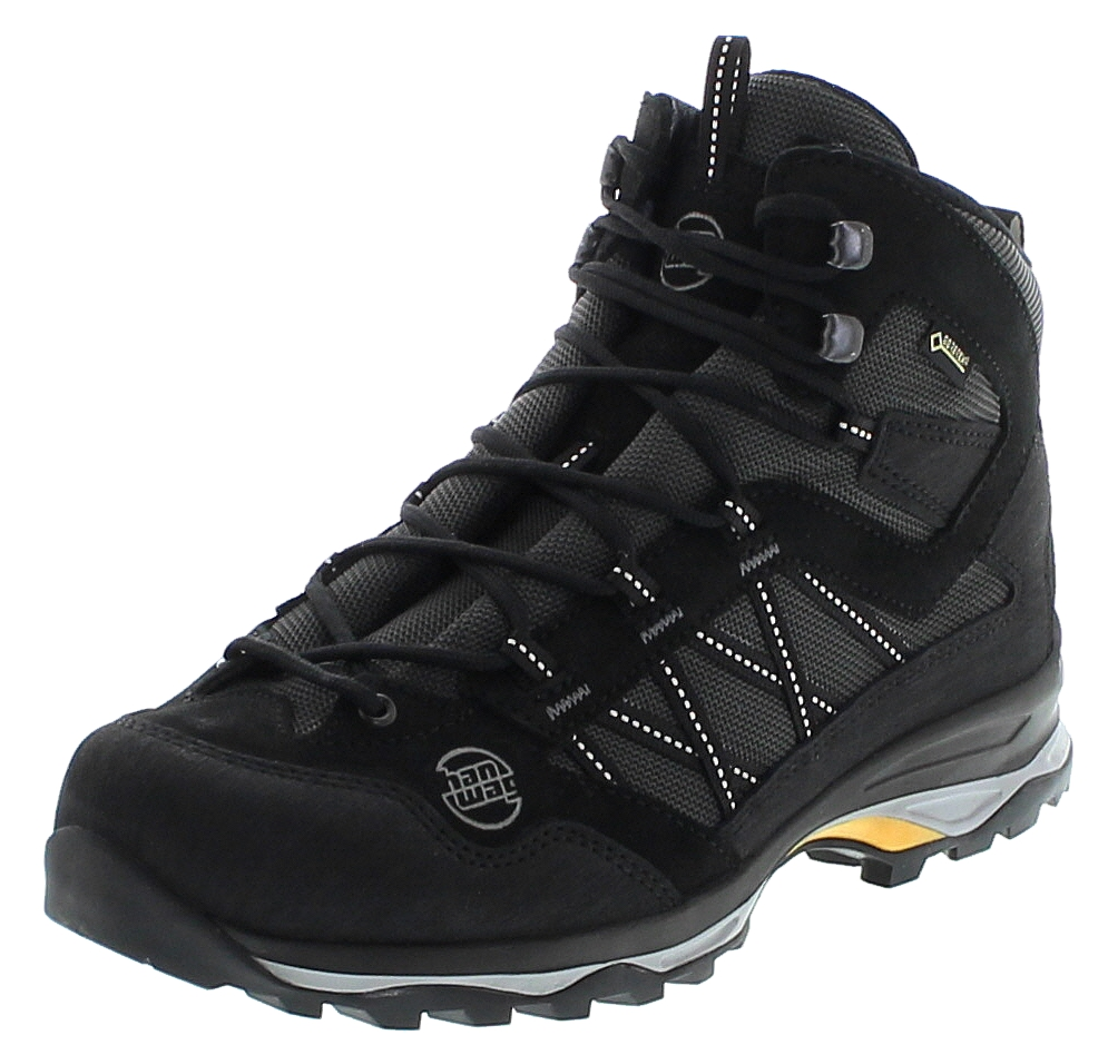 Hanwag BELORADO BUNION MID GTX Black Herren Hikingstiefel Schwarz