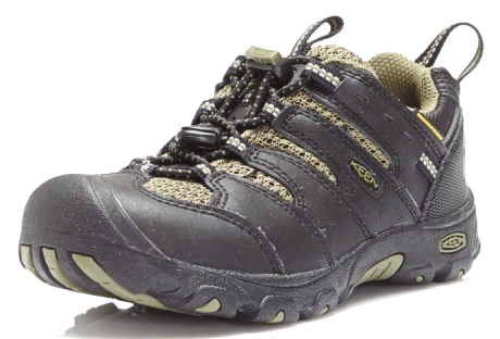 Keen 1011760 KOVEN LOW WP Black Burnt Olive Kinder Wanderschuhe - Schwarz