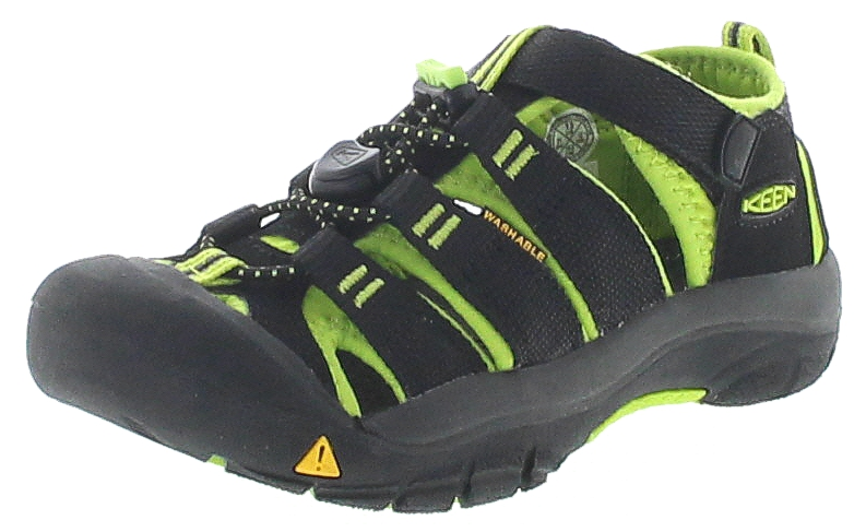 Keen 1009942 NEWPORT H2 Kids Black Lime Green Kinder Outdoor-Sandalen - Schwarz