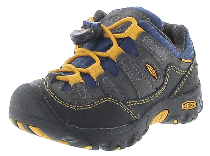Keen PAGOSA LOW WP KIDS Magnet Yellow wasserdichte Kinder Wanderschuhe Grau