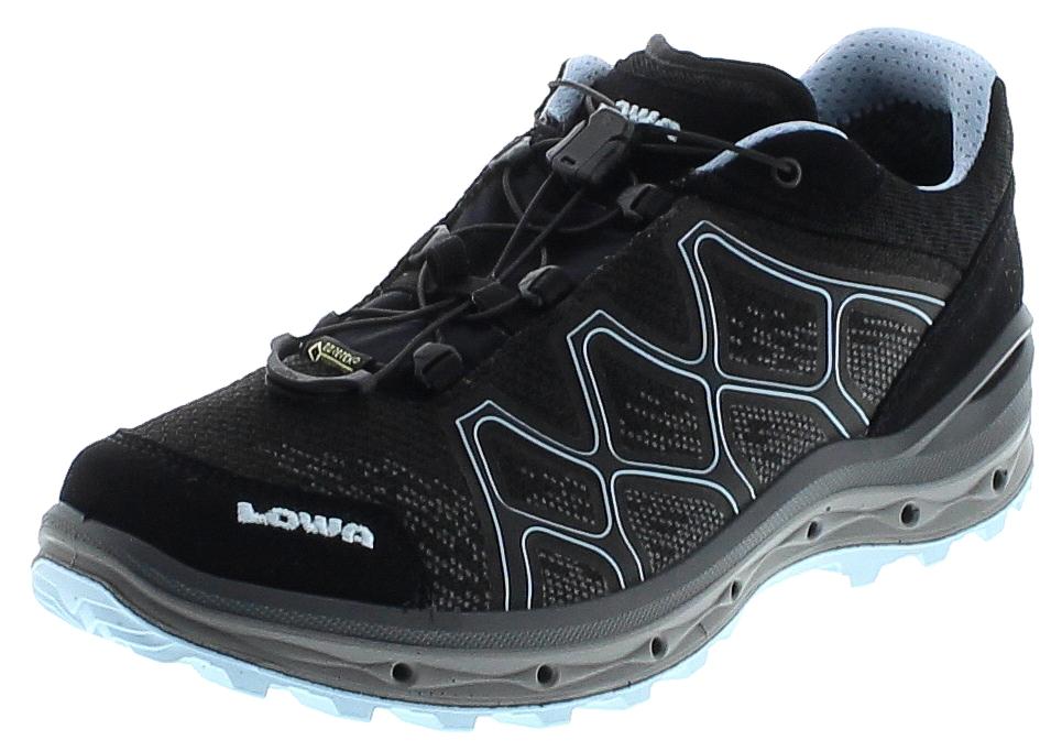Lowa AEROX GTX LO WS Schwarz Eisblau Damen Hiking Schuhe