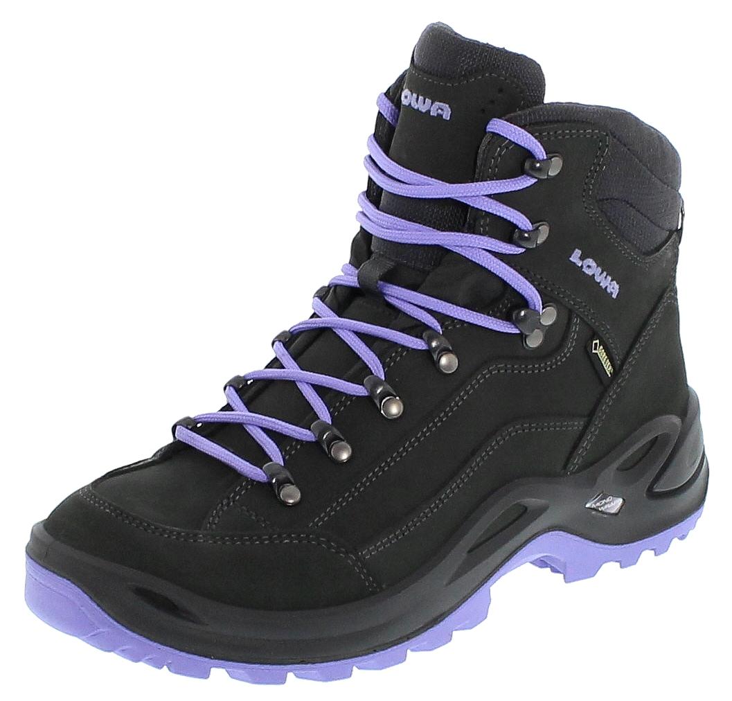 Lowa 320945 9745 RENEGADE GTX MID WS Anthrazit Lila Damen Hiking Stiefel