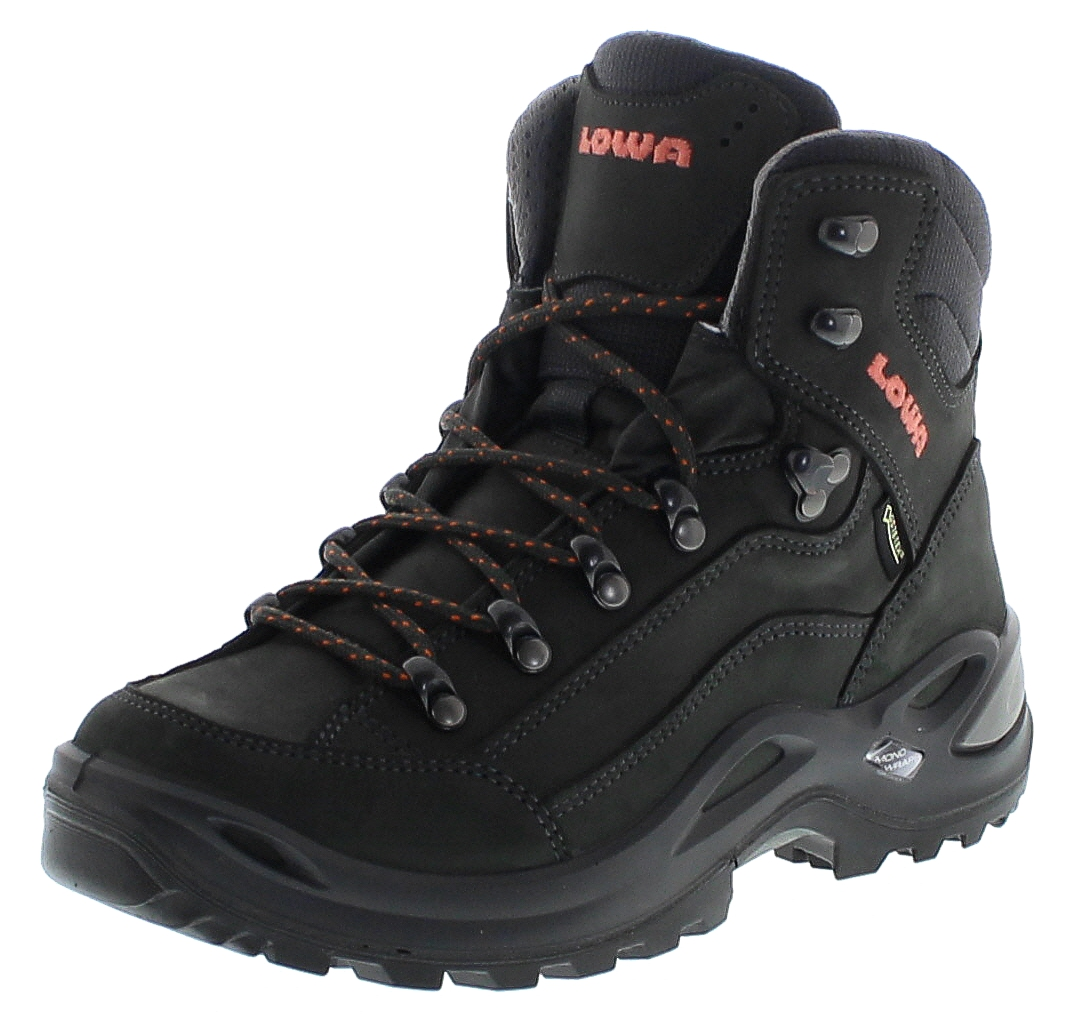 Lowa 320945-9709 RENEGADE GTX MID WS Anthrazit Mandarine Damen Hiking Schuhe - Schwarz