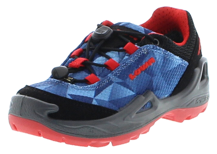 Lowa TICINO GTX LO JUNIOR Blau Rot Kinder Hiking Schuhe