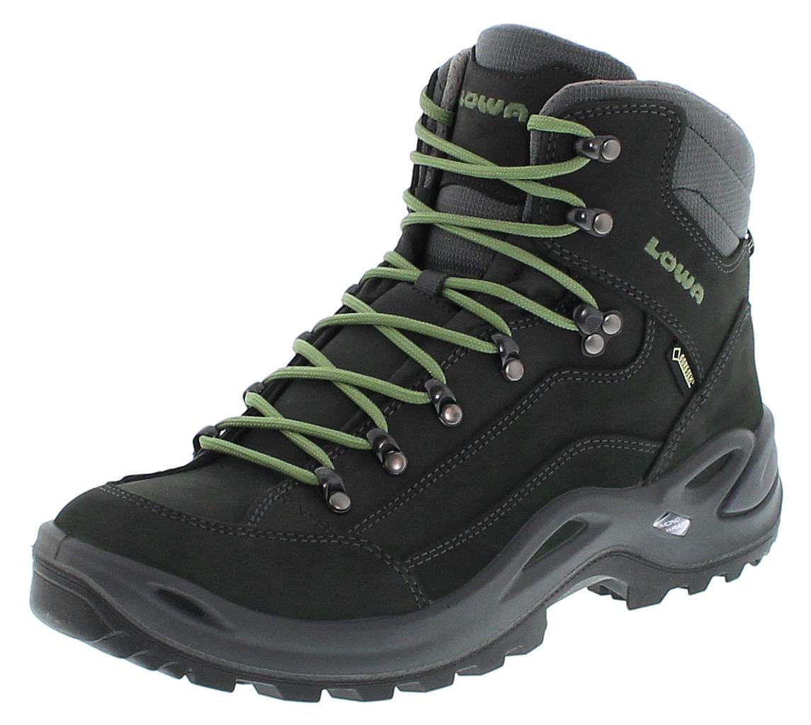 Lowa 320945 9781 RENEGADE GTX MID WS Graphit Jade Damen Hiking Stiefel Schwarz
