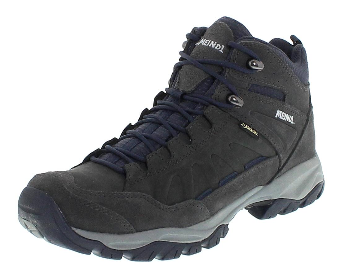 Meindl 3424-49 NEBRASKA MID GTX Marine Anthrazit Herren Hiking Stiefel - Grau