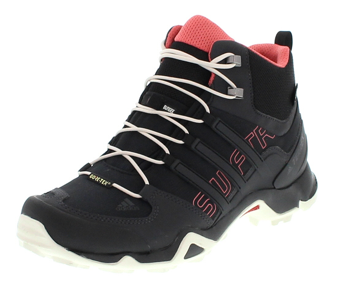 new arrival 65c3c db55a Adidas BB4642 TERREX SWIFT R MID GTX Schwarz Damen Hiking Schuhe