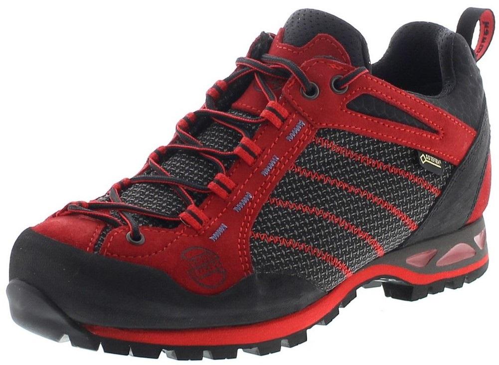 huge discount 780ab 49b36 Hanwag 11120-05 MAKRA LOW GTX Rubin Bright Red Herren Trekking Schuhe - Rot