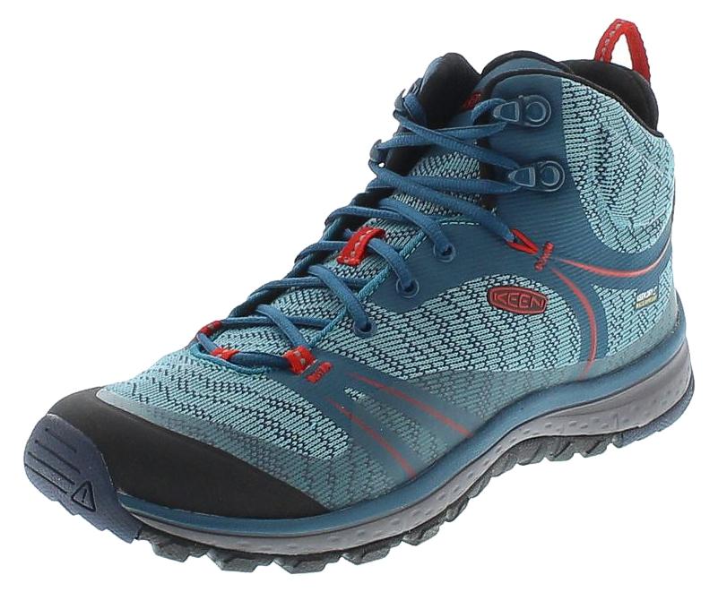 reputable site 70faf ecad1 Keen 1017685 TERRADORA MID WP Blue Coral Fiery Red Damen Hiking Schuhe -  Blau