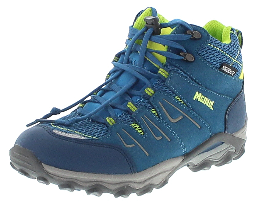 Meindl 2105-53 ALON JUNIOR MID Petrol Lemon Kinder Hiking Schuhe - Blau