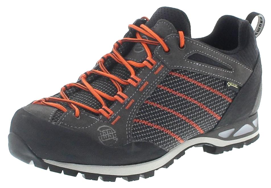 Hanwag 11120-064023 MAKRA LOW GTX Asphalt Orange Herren Trekking Schuhe - Grau