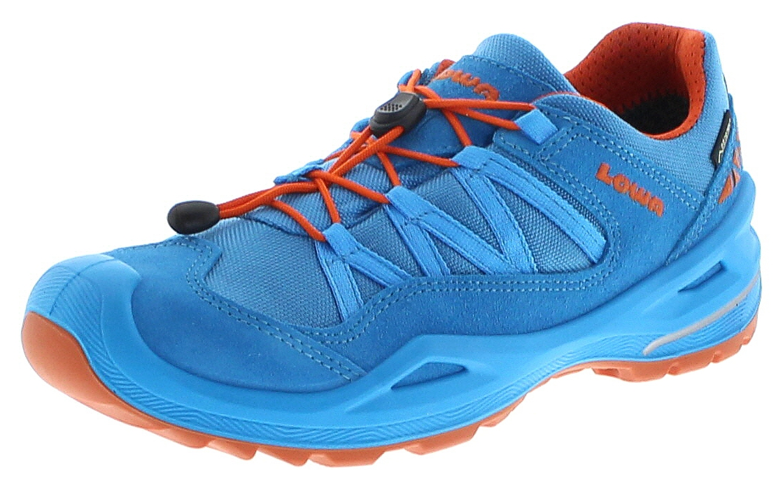 Lowa 650729-6919 ROBIN GTX LO Türkis Orange Kinder Hiking Schuhe