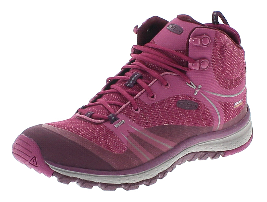 Keen 1018524 TERRADORA MID WP W Boysenberry Grape Wine Damen Trekking Stiefel - Rosa